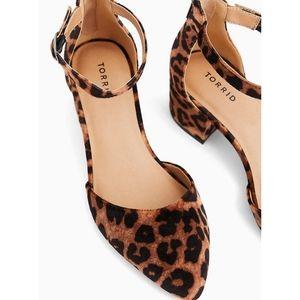 Torrid Leopard Velvet D'Orsay Block Heel Pump Shoe